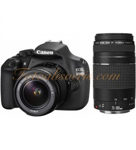 Canon EOS 1200D + 18-55 + 75-300mm Lens Kit DSLR Fotoğraf Makinesi