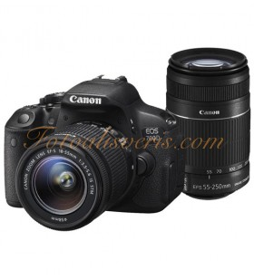 Canon EOS 700D + 18-55 + 55-250 IS STM Lens Kit DSLR Fotoğraf Makinesi