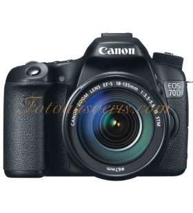 Canon EOS 70D + 18-135mm IS STM Lens Kit DSLR Fotoğraf Makinesi
