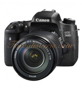 Canon EOS 760D + 18-135mm IS STM Lens Kit DSLR Fotoğraf Makinesi
