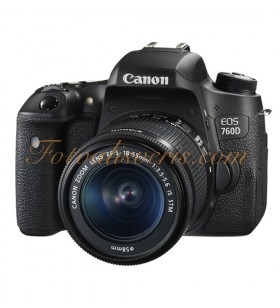 Canon EOS 760D + 18-55mm IS STM Lens Kit DSLR Fotoğraf Makinesi
