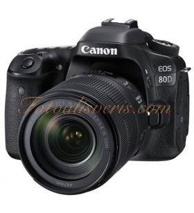 Canon EOS 80D + 18-135mm NANO IS USM Lens Kit DSLR Fotoğraf Makinesi