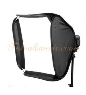 LİFEİ 60X60cm Flaş Soft Box & Bracket (Taşıyıcı) Set