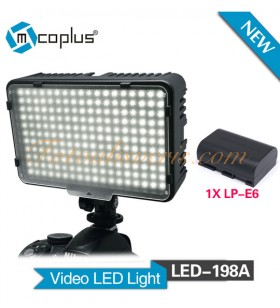 Mcoplus LED-198A Pro Led Video Işığı (LP-E6 Batarya Dahil)